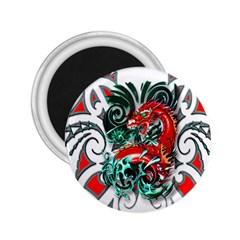 Tribal Dragon 2 25  Button Magnet by TheWowFactor