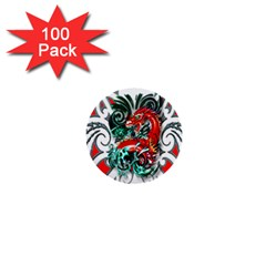 Tribal Dragon 1  Mini Button (100 Pack) by TheWowFactor