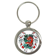 Tribal Dragon Key Chain (round) by TheWowFactor