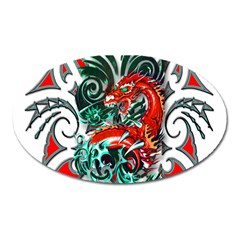 Tribal Dragon Magnet (oval) by TheWowFactor