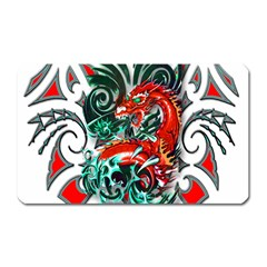 Tribal Dragon Magnet (rectangular) by TheWowFactor