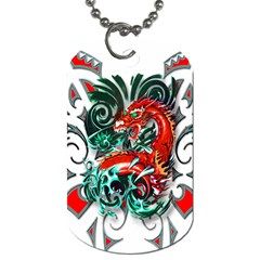 Tribal Dragon Dog Tag (one Sided) by TheWowFactor