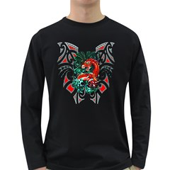 Tribal Dragon Men s Long Sleeve T Shirt (dark Colored) by TheWowFactor