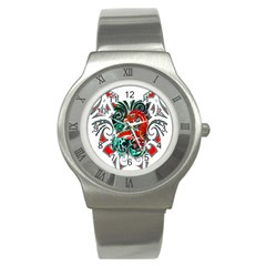 Tribal Dragon Stainless Steel Watch (slim) by TheWowFactor