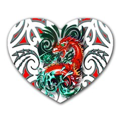 Tribal Dragon Mouse Pad (heart) by TheWowFactor