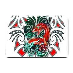 Tribal Dragon Small Door Mat by TheWowFactor