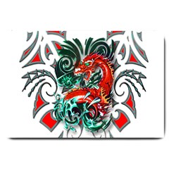Tribal Dragon Large Door Mat by TheWowFactor