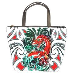 Tribal Dragon Bucket Handbag by TheWowFactor