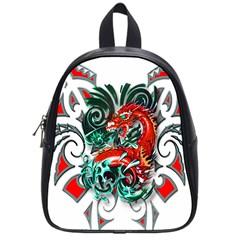Tribal Dragon School Bag (small) by TheWowFactor