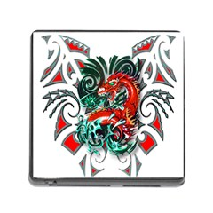 Tribal Dragon Memory Card Reader With Storage (square) by TheWowFactor