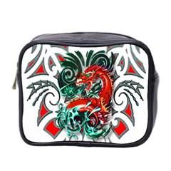 Tribal Dragon Mini Travel Toiletry Bag (two Sides) by TheWowFactor