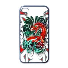Tribal Dragon Apple Iphone 4 Case (black) by TheWowFactor