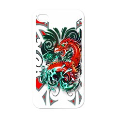Tribal Dragon Apple Iphone 4 Case (white) by TheWowFactor