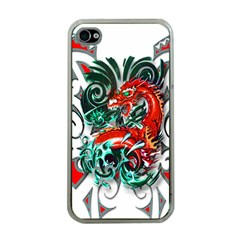 Tribal Dragon Apple Iphone 4 Case (clear) by TheWowFactor