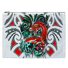 Tribal Dragon Cosmetic Bag (xxl) by TheWowFactor