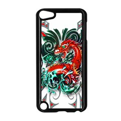 Tribal Dragon Apple Ipod Touch 5 Case (black) by TheWowFactor