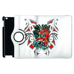 Tribal Dragon Apple Ipad 2 Flip 360 Case by TheWowFactor
