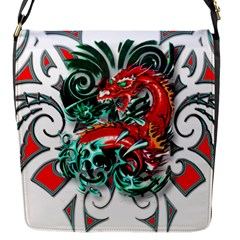 Tribal Dragon Flap Closure Messenger Bag (small) by TheWowFactor