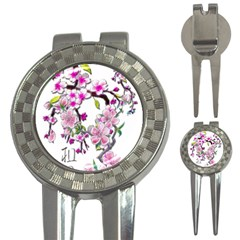Cherry Bloom Spring Golf Pitchfork & Ball Marker by TheWowFactor