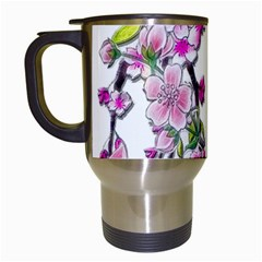 Cherry Bloom Spring Travel Mug (white) by TheWowFactor
