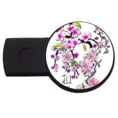 Cherry Bloom Spring 4gb Usb Flash Drive (round) by TheWowFactor