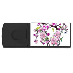 Cherry Bloom Spring 4gb Usb Flash Drive (rectangle) by TheWowFactor