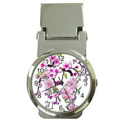 Cherry Bloom Spring Money Clip With Watch by TheWowFactor