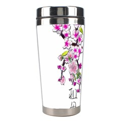 Cherry Bloom Spring Stainless Steel Travel Tumbler by TheWowFactor