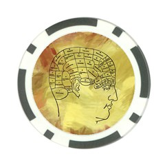 Brain Map Poker Chip by StuffOrSomething