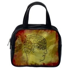 Brain Map Classic Handbag (one Side) by StuffOrSomething