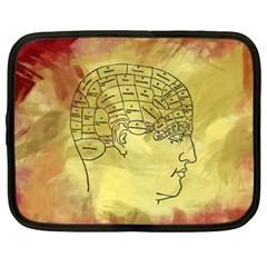 Brain Map Netbook Sleeve (xxl) by StuffOrSomething