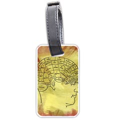 Brain Map Luggage Tag (one Side) by StuffOrSomething