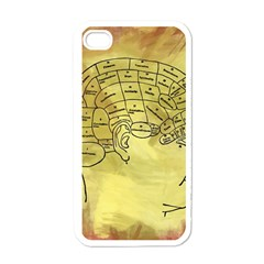 Brain Map Apple Iphone 4 Case (white) by StuffOrSomething