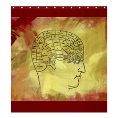 Brain Map Shower Curtain 66  X 72  (large) by StuffOrSomething