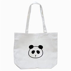 Panda By Divad Brown   Tote Bag (white)   31zrow46wvgm   Www Artscow Com Front