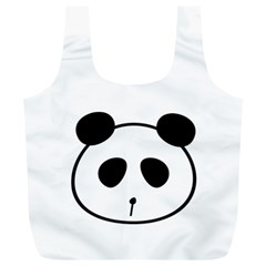 Panda By Divad Brown   Full Print Recycle Bag (xl)   80cjya4n6d5t   Www Artscow Com Front