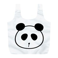 Panda By Divad Brown   Full Print Recycle Bag (l)   Udsbdk0q6vzf   Www Artscow Com Back
