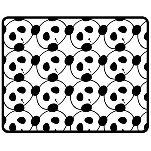 Panda By Divad Brown   Fleece Blanket (medium)   52y0gpqyewv0   Www Artscow Com 60 x50 Blanket Front