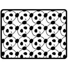 Panda By Divad Brown   Double Sided Fleece Blanket (large)   H3aeul591pj0   Www Artscow Com 80 x60 Blanket Front