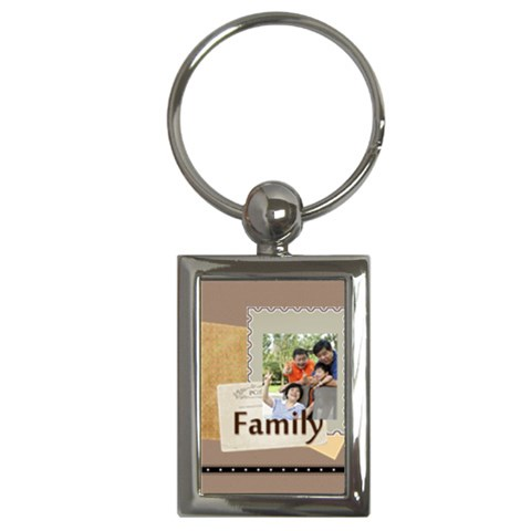 Family By Family   Key Chain (rectangle)   61uufk4xqho7   Www Artscow Com Front