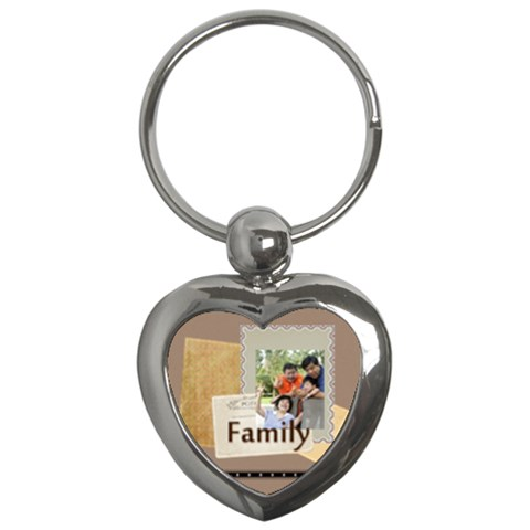 Family By Family   Key Chain (heart)   M5qk943j7r81   Www Artscow Com Front