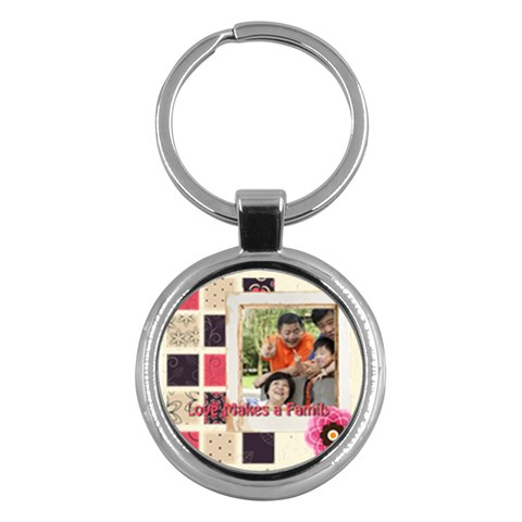 Family By Family   Key Chain (round)   1u5j9m5l583s   Www Artscow Com Front