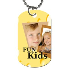 Kids By Kids   Dog Tag (two Sides)   7710qvj0h4xh   Www Artscow Com Front
