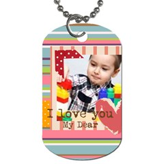 Kids By Kids   Dog Tag (two Sides)   R3af9mysuv4f   Www Artscow Com Back