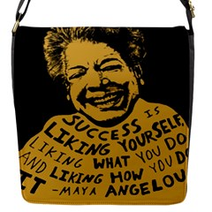 Maya Angelou Flap Closure Messenger Bag (Small) by unforgotten