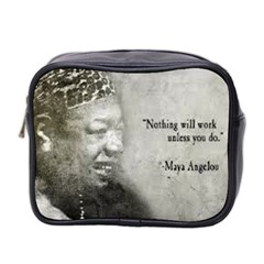 Maya Angelou Mini Travel Toiletry Bag (Two Sides) by unforgotten