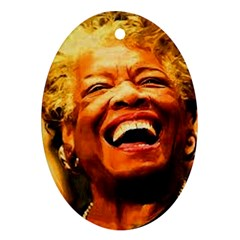 Angelou Oval Ornament by unforgotten