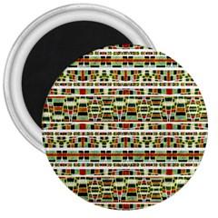 Aztec Grunge Pattern 3  Button Magnet by dflcprints