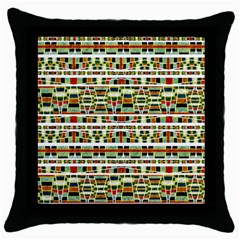 Aztec Grunge Pattern Black Throw Pillow Case by dflcprints