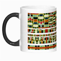 Aztec Grunge Pattern Morph Mug by dflcprints